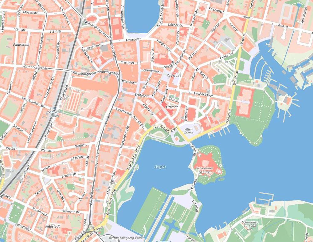 Web-Karte der Altstadt Schwerin