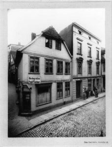 Historische Aufnahme des Hauses Schusterstraße 12
