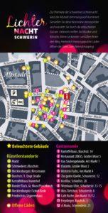 Eine Übersicht über alle beleuchteten Gebäude, geöffnete Läden sowie die kulturellen und gastronomischen Angebote sind in einem Veranstaltungsflyer aufgeführt.